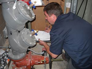 commercial fire backflow test